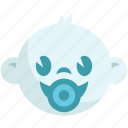 baby, baby shower, boy, head, pacifier, smiling icon