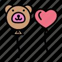 baby, balloon, bear, children