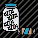 bottle, candy, child, flower, toy