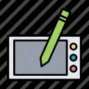 board, digital, drawing, sketch, tab