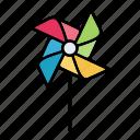 paper, pinwheel, spin, toy, windmill