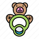 baby, bear, born, teether, toy