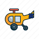 aircraft, chopper, helicopter, transport icon
