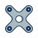 fidget, loading, spinner, toy icon