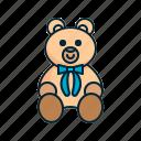 animal, bear, cute, teddy icon
