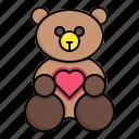 baby, child, doll, girl, teddy bear, toy, toys icon