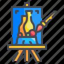 art, brush, drawing, paint, painting, subject, vase icon