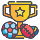 sport, rugby, volleyball, soccer, trophy, football, cup icon