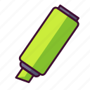back to school, markers, school supplies icon