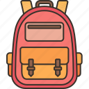 backpack, accessories, student, traveler, school icon