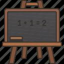 lesson, mathematic, teaching, blackboard, chalk icon