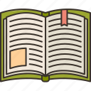 reading, learning, book, homework, knowledge icon