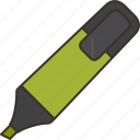 pen, maker, accessory, highlight, color icon