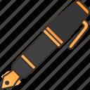 ink, pen, nib, writing, stationery icon