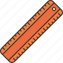 line, measurement, ruler, drawing, tool icon