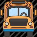vehicle, school, bus, transportation, service icon