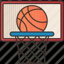 basketball, sports, athlete, hoop, exercise icon