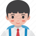 primary, children, student, boy, school icon