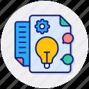 idea, bulb, creative, document, list, plan, process