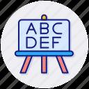 abc, school, blackboard, education, class