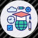 online, education, academy, graduation, school, learning
