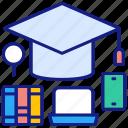 education, graduation, knowledge, school, study, institutional, hat
