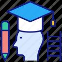 graduation, education, male, student, university, hat