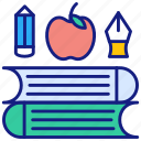 books, reading, apple, education, history, library, study