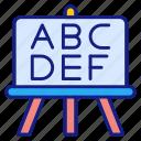 abc, school, board, blackboard, education, class