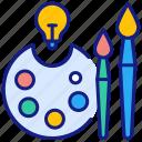 art, drawing, paintbrush, artist, paint, painter, palette