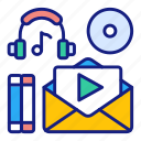 multimedia, library, media, music, audio, video, film