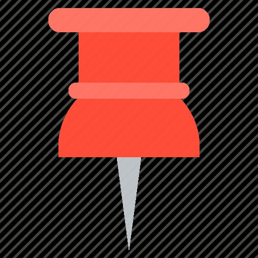 navigation, office, pin, school, school supplies, tag icon