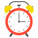 alarm clock, clock, school, school supplies, time icon