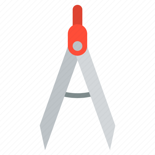 compasses, drawing, school, school supplies, stationary icon