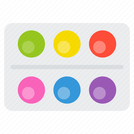 color palate, education, paint, painting, school, school supplies icon