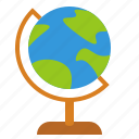 globe, history, learn, school, school supplies, stand icon