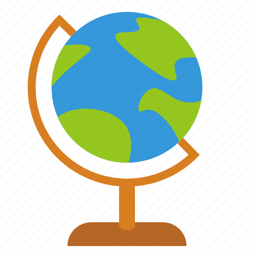 globe, history, learn, school, school supplies, stand icon
