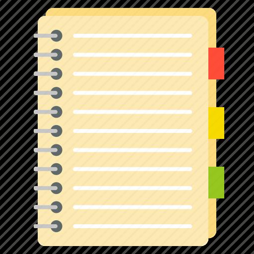book, document, notebook, paper, school, school supplies icon