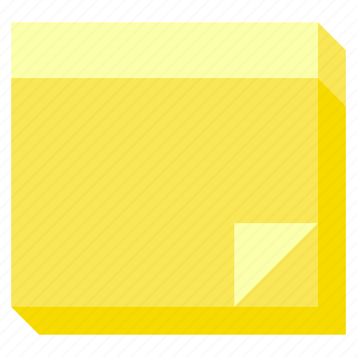 notepad, notes, paper, post it, school, school supplies icon