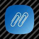 paperclip, school icon