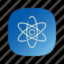 atom, school, science icon