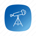 astronomy, school, telescope icon