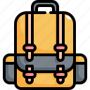 back to school, bag, education, equipment, learning, school icon