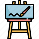 art, brush, canvas, drawing, paint, painting icon