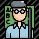 avatar, back to school, education, equipment, learning, school, teacher icon