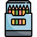 back to school, colored, draw, education, equipment, learning, pencil icon