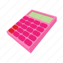 business, calculator, cartoon, electronic, math, mathematics, school icon