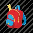 back, backpack, bag, baggage, cartoon, education, school