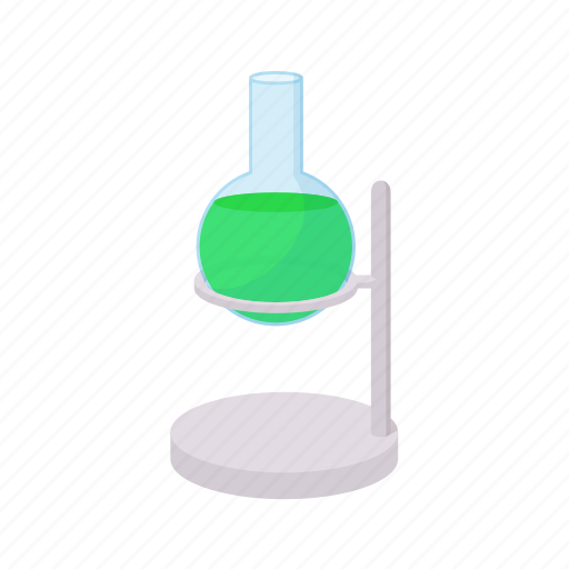 cartoon, chemical, chemistry, experiment, laboratory, science, test icon