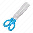 cartoon, cut, metal, school, scissors, sharp, tool icon